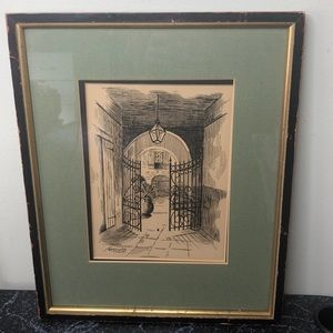 Vintage Leda Plauche New Orleans drawing